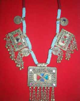 Afghani Kuchi Necklace with 3 locket