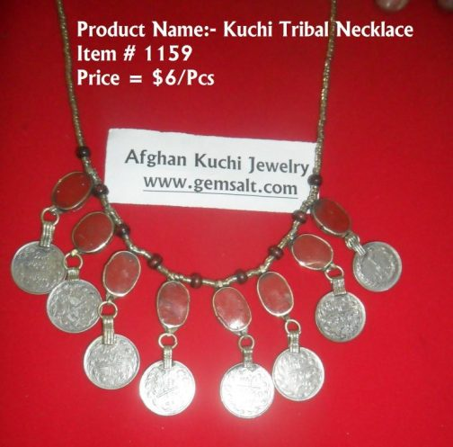 Coral Gemstone Kuchi Necklace