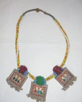 Tribal Kuchi Three Pendant Necklace
