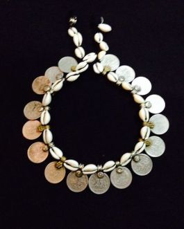 Shell & Coins Anklet Pair