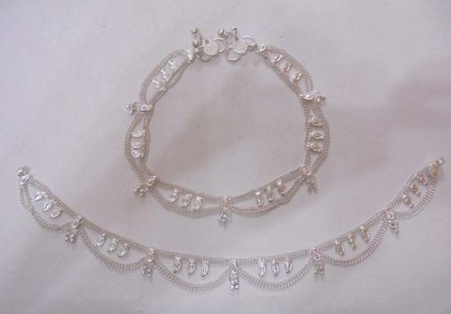 Pure Metal Anklet Pair-IN