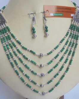 Malachite Necklace Plus Ear RIng
