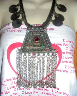 Pendant & Coins Tribal Necklace