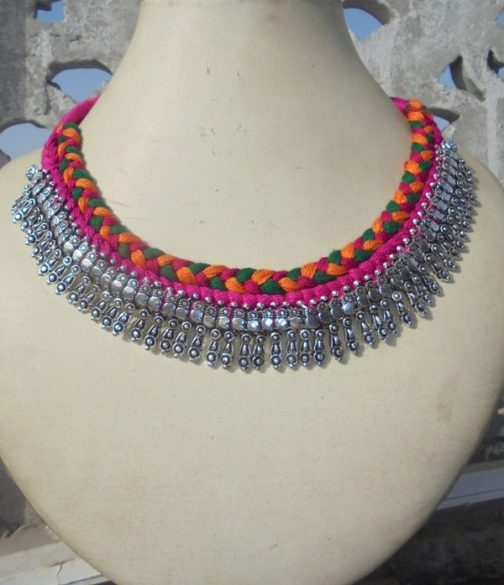 Stylo Necklace With Cotton Cord