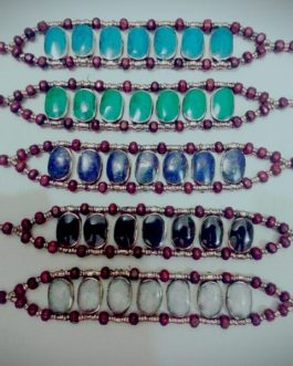 Wholesale Multi Stone Oval Shape Bracelet