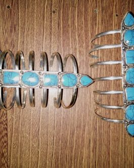Scorpion Turquoise Tribal Cuff