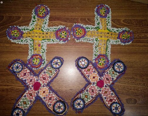Cross Tribal Medallions Patch Pair