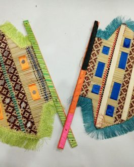 Wall Decoration Tribal hand Fan (Wooden made)