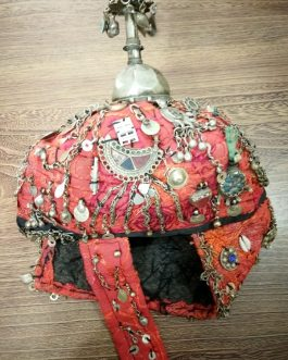 Vintage Turkmani Cap with Old Accessories