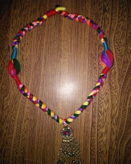 Summer Color Necklace With Afghani Pendant