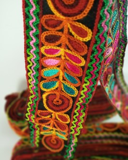 Multi color 6cm Wool Trim (7.8mtr)