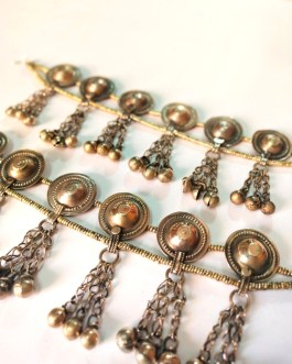 Round Cap Bells & Beaded Anklet