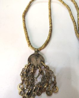 Antique Pendant Metal Beads Necklace