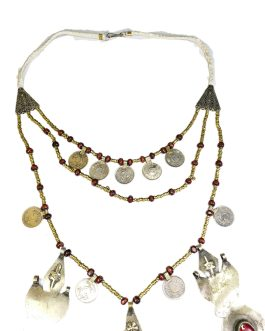 Turkman Leaf & Afghan Coin Necklace