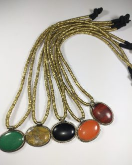 Synthetic Multi Colour Stone Necklace-2