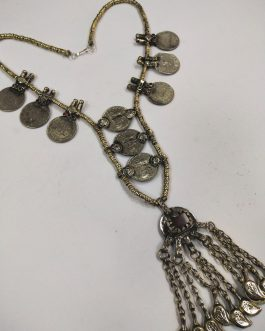 Golden Beads & Coins Necklace