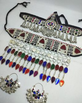 Crystal Work Tribal Necklace Set