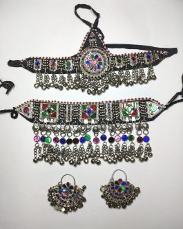 Hanging Bells Work Tribal Necklace Set