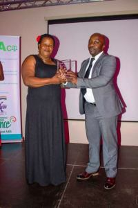Marjorine Nakimuli Receives the Equality Award on behalf of MARPI