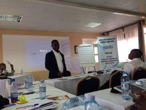 Dr. Frank Mugisha from SMUG addresses participants