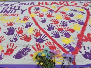 A makeshift memorial outside the shooting scene  PHOTO CREDIT: npr.org
