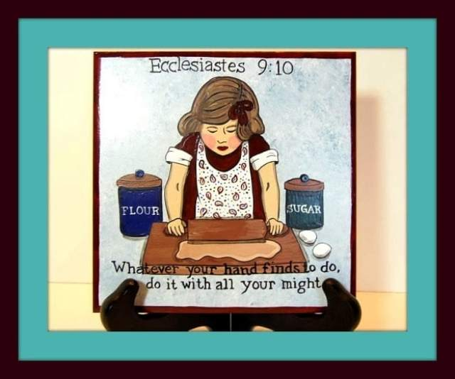 Ecclesiastes Hand Painted Ceramic Tile