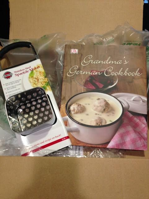 spaetzle maker and German cookbook