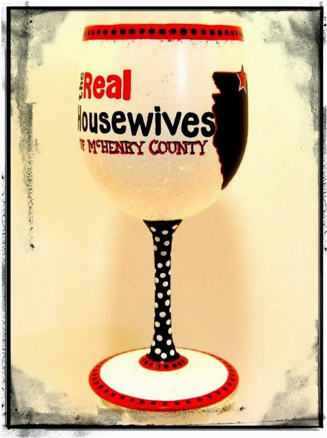 Real Housewives wine glass