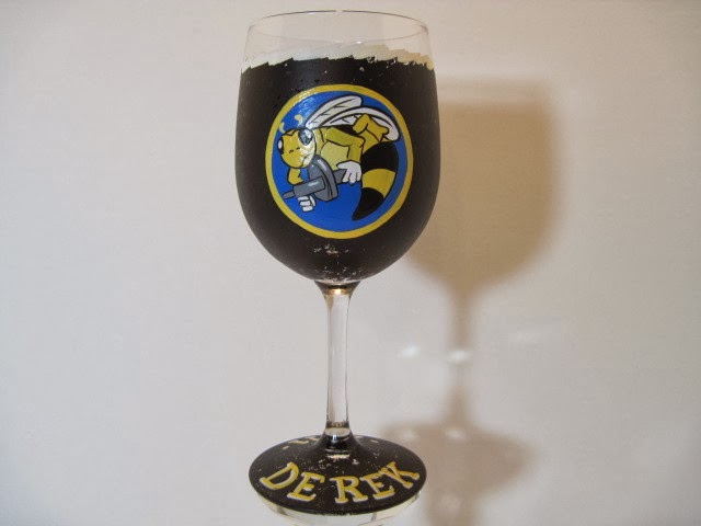 Seabees wine glass