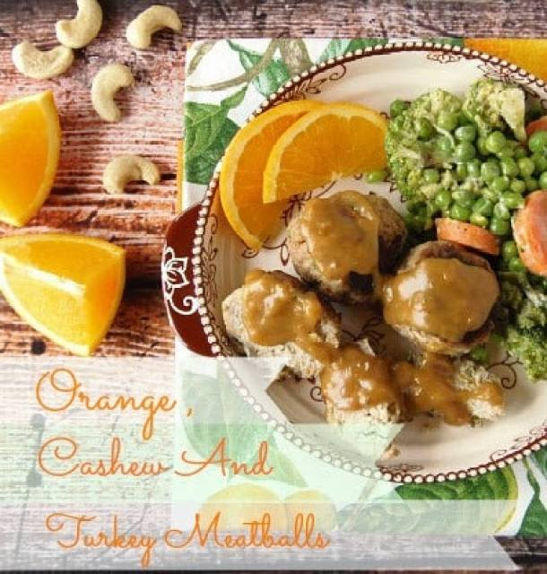 Orange, Cashew and Turkey Meatballs Recipe