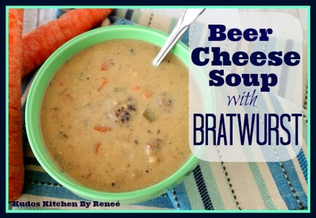 Beer Cheese Soup with Bratwurst Recipe