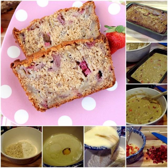 Strawberry Bread with Rhubarb and Bananas Recipe - kudoskitchenbyrenee.com