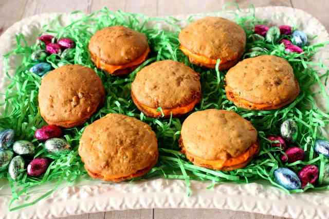 Zucchini and Carrot Cake Whoopie Pies