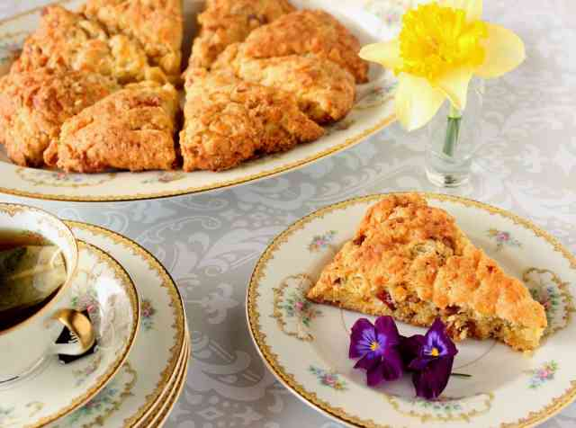 Bacon, Egg and Cheddar Scones Recipe via Kudos Kitchen by Renee