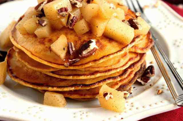Sweet Potato Pancakes via kudoskitchenbyrenee.com