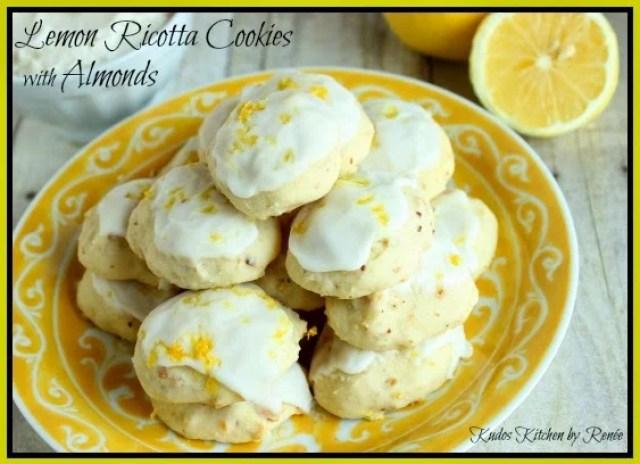 Light & Lemon Ricotta Cookies with Almonds - kudoskitchenbyrenee.com