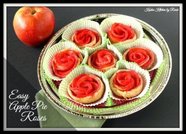 Easy Apple Pie Rose Recipe via kudoskitchenbyrenee.com