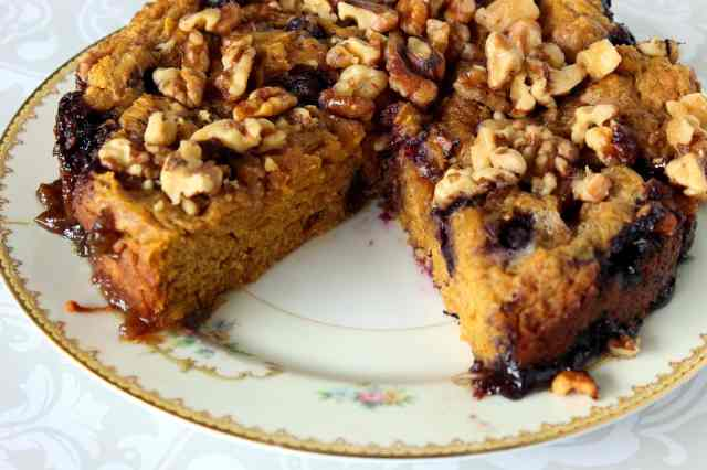 Add this Slow-Cooker Pumpkin and Blueberry Cake to your favorite slow-cooker baking recipe file. You're going to love the fall spice in this one.