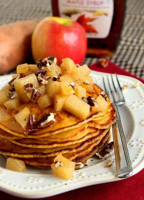 Sweet Potato Pancakes with Apples and Pecans Recipe