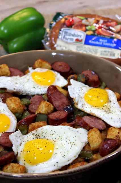 Smoke Sausage and Tater Tot Casserole Recipe