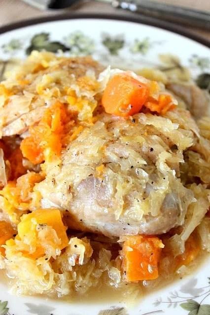 Sauerkraut Chicken Thighs Butternut Squash