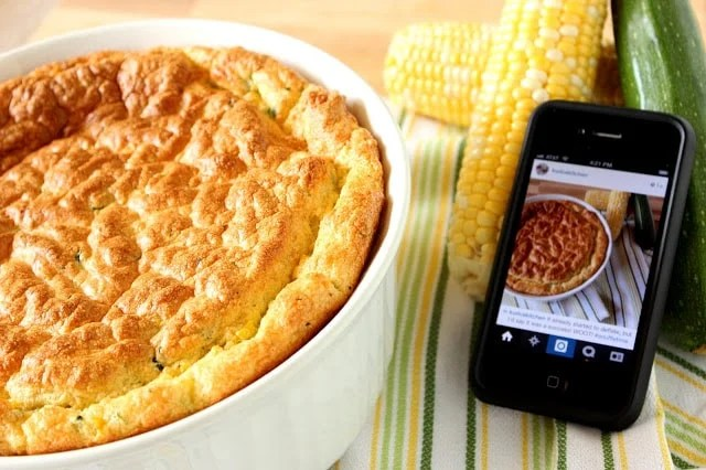 Zucchini and Sweet Corn Souffle