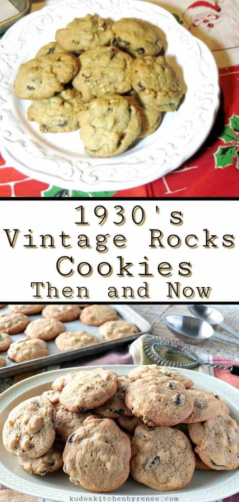 This vintage cookie recipe dates back to the 1930's. Vintage Rocks Cookies are fast and easy to make and don't require any special equipment. A large bowl and a spoon will work wonderfully well. After all, if it was good enough for grandma... - kudoskitchenbyrenee.com
