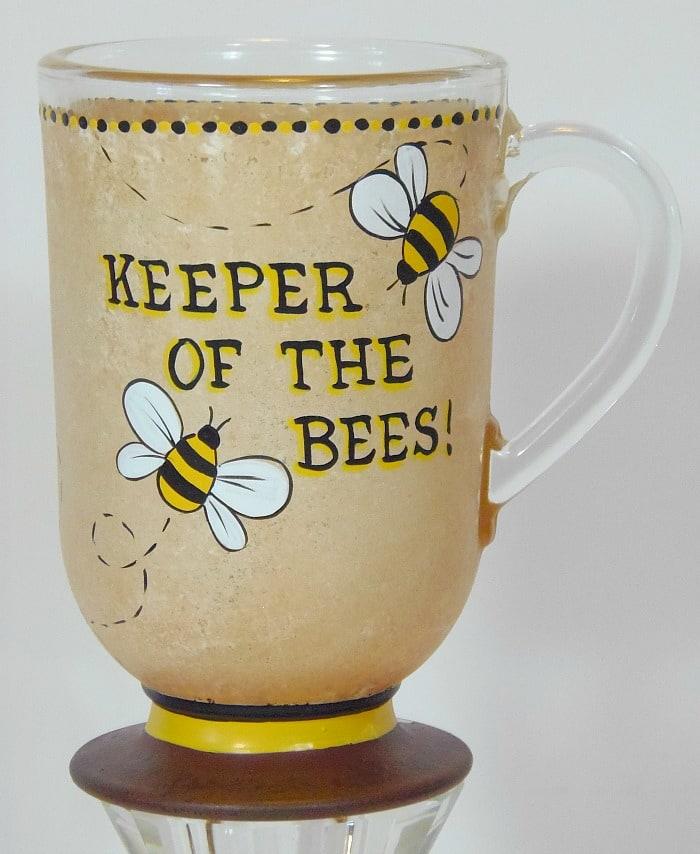 Keeper of the Bees Hand Painted Coffee Mug