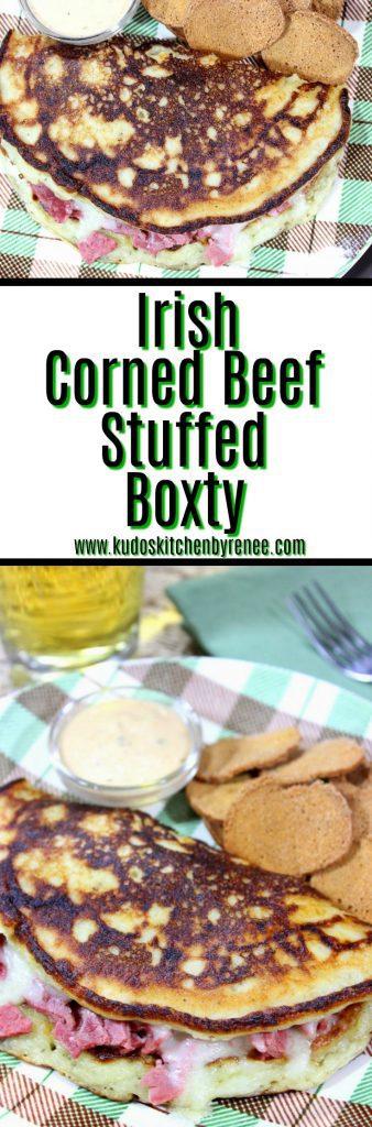 Irish Corned Beef Boxty with Swiss Cheese - www.kudoskitchenbyrenee.com