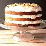 Chocolate Hazelnut Cake with Whipped Cream