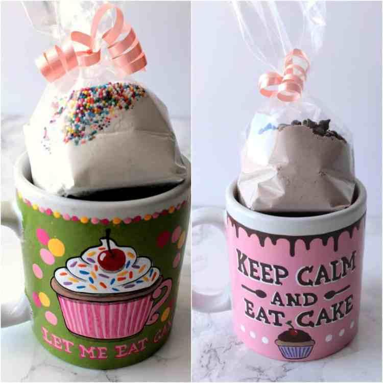 Hand painted mug with cake mix set
