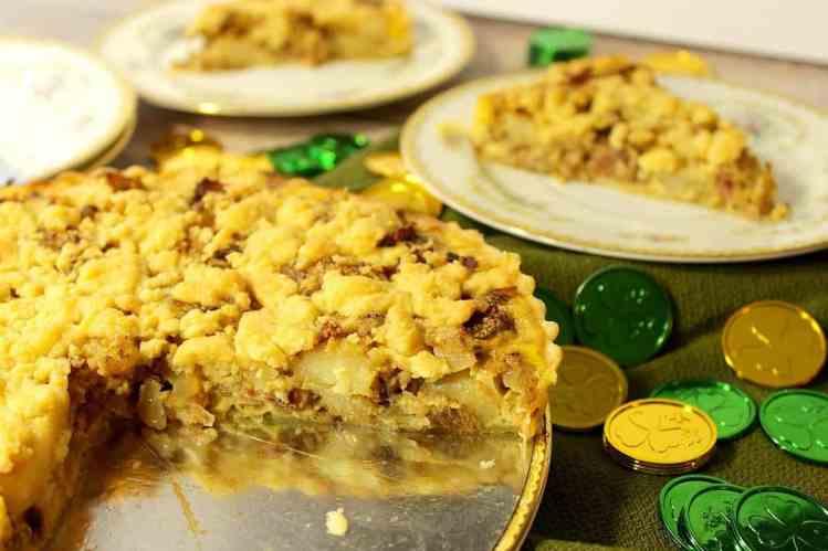 Irish tart with cheese and potato