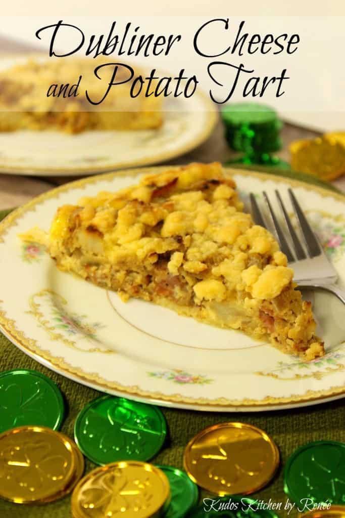 Irish cheese and potato tart.