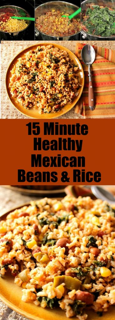 Healthy Delicious 15 Minute Mexican Beans & Rice
